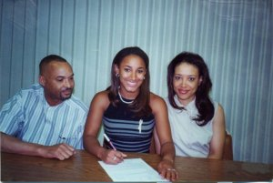 Signing my letter of intent