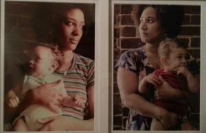 Mama with her firstborn, and me with mine.
